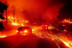 California wildfires threaten towns, wineries