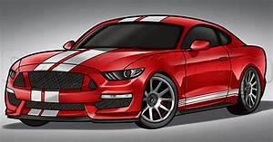How to Draw a 2016 Shelby Mustang, Step by Step, Cars ...