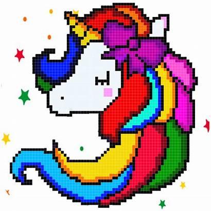 Unicorn Pixel Kawaii App Number Pixelart Google