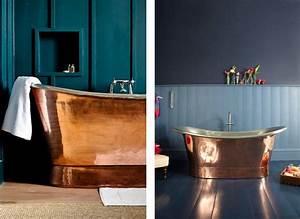 Accessoire Salle De Bain Cuivre : la fabrique d co cuivre et bleu couleurs et mati res ~ Melissatoandfro.com Idées de Décoration