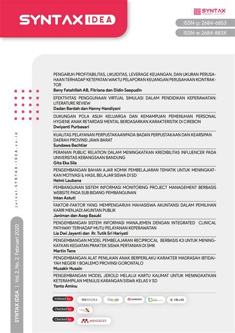 Jpp has been published since 1980 by the indonesia university of education. Pengembangan Alat Penilaian Anak Berperilaku Karakter ...