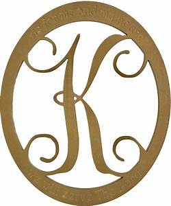 monogram single vine style letter with a oval cutout With single letter monogram styles