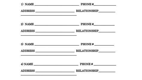 Reference Sheet Template Resume Reference Sheet Template Tomyumtumweb