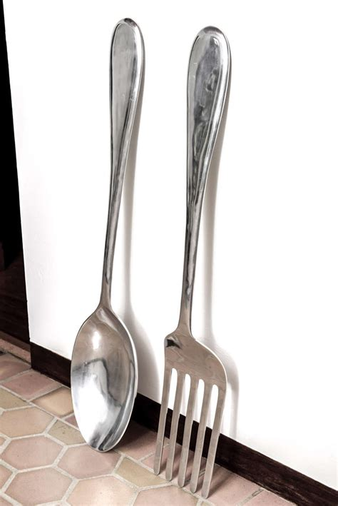 image gallery oversized decorative fork