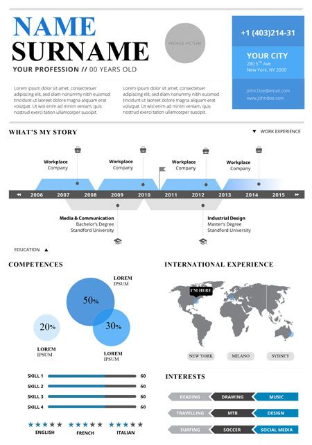 Free Infographic Resume Template by Top 5 Infographic Resume Templates