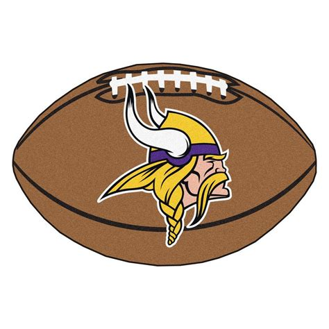 fanmats nfl minnesota vikings brown 2 ft x 3 ft specialty area rug 5763 the home depot
