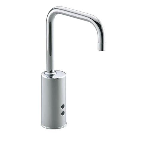 sensor faucets kitchen kohler geometric battery powered single touchless