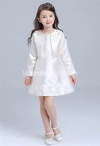 ensemble tenue enfant robe et veste en satin With ensemble robe veste