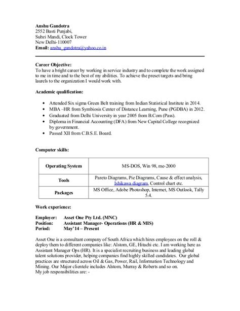 18465 an exle of a resume resume