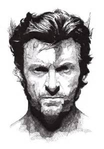 Wolverine Black and White Drawing