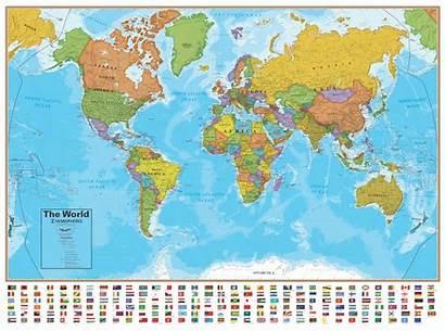 Wall Ocean Maps Hemispheres Series Map