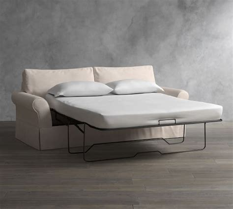Slipcovered Sleeper Sofas by Pb Comfort Roll Arm Slipcovered Sleeper Sofa With Memory