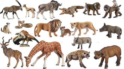 schleich papo  animals african savanna safari zoo toys