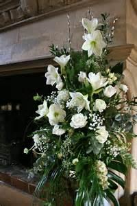 Wedding Flower Arrangement On Pedestal