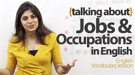 Talking about Jobs and Occupations in English - Free ...