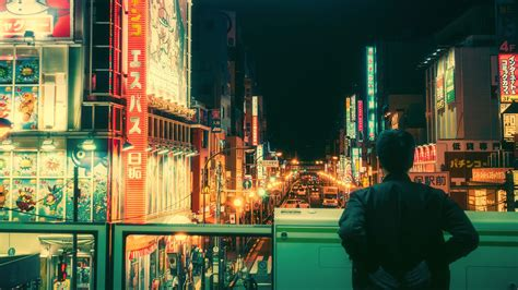 Aesthetic Jdm Iphone Wallpaper by 1920x1080 Px Bicycle Japanese Neon Light Tokyo High
