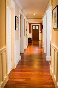 craftsman style hallway with warm hardwood floors hgtv