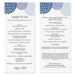 wedding ceremony program template word best photos of party program templates wedding program