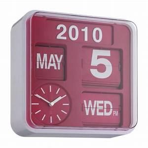 Horloge Murale Rouge : flap horloges rouge plastique habitat ~ Teatrodelosmanantiales.com Idées de Décoration