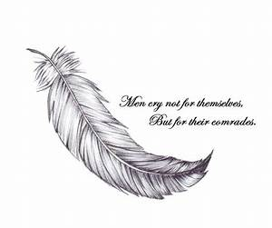 Falling Feather Tattoo Drawings Pictures to Pin on ...