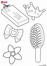 Coloring Hair Accessories Pages Lego Disney Decorate Printable Rapunzels Help sketch template