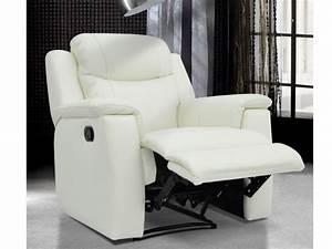 fauteuil relax pas cher fauteuil relax en cuir tissu With tapis enfant avec canapé cuir relax electrique 3 places monsieur meuble