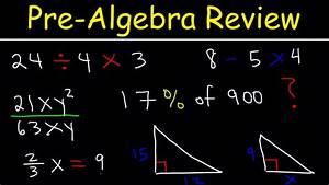 Pre-algebra - Basic Introduction
