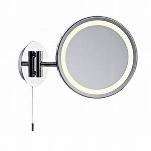 modern illuminated bathroom mirror with pull switch With miroir mural lumineux