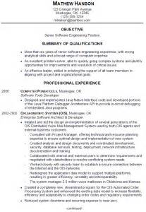 high senior college resume objective resume sle for a senior software engineer susan ireland resumes