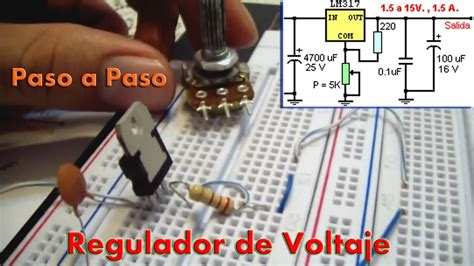 xlaciencia regulador de voltaje con el lm317 t youtube