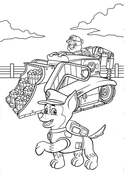 chase paw patrol coloring pages    print