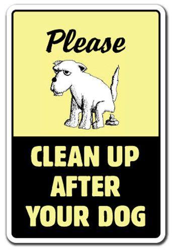 clean    dog sign dog pet  poop crap pick