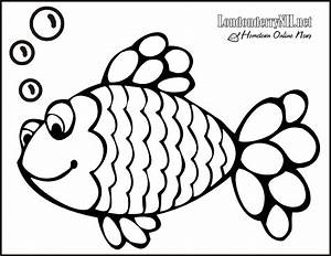 rainbow fish coloring page - Free Large Images
