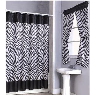 zebra print shower curtain 14 set and 4 window