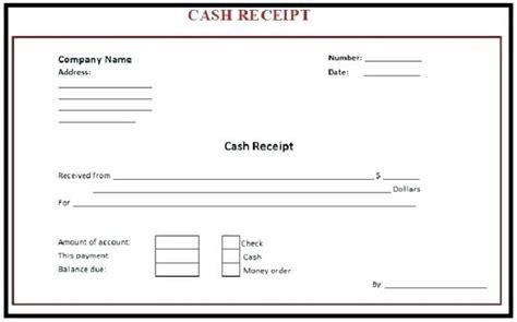 printable payment receipts create cash receipt