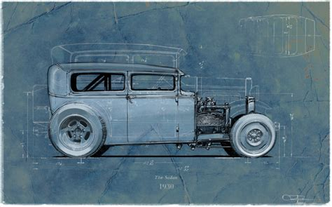 blueprint series  ford coupe  ford sedan