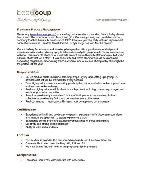 photographers resume resume for a photographer freelance photographer resume