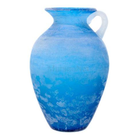 glass vase scavo vase blue in murano glass muranonet store