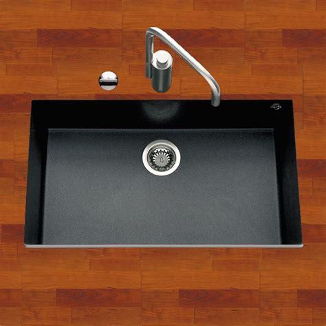 evier ceramique cuisine évier sous plan granit noir moucheté urbia 1 bac 760x440