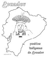 laminas  dibujos indigenas de ecuador  colorear
