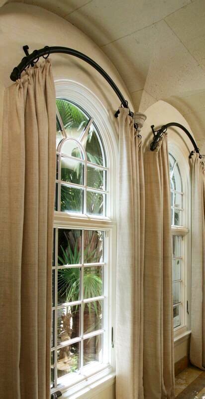Curved Drapery Rods For Windows by Panels On A Curved Rod Edward S Window Decor