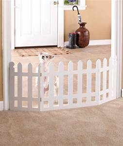 folding wooden white picket fence pet gate cats dogs puppy With white dog fence