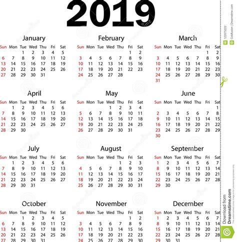 calendar vector illustration stock vector illustration