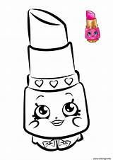Coloriage Lipstick Shopkins Imprimer Coloring Dibujos Dessin Rouge Levre Kawaii Colorear Shopkin Printable Gratuit Princess Disney Coloriages Lippy Colouring Coloriez sketch template