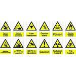 Hazard Safety Signs Symbols Lab Risk Management