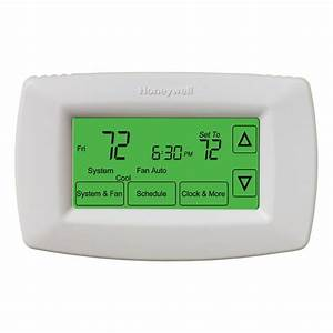 Honeywell 7-day Programmable Touchscreen Thermostat-rth7600d