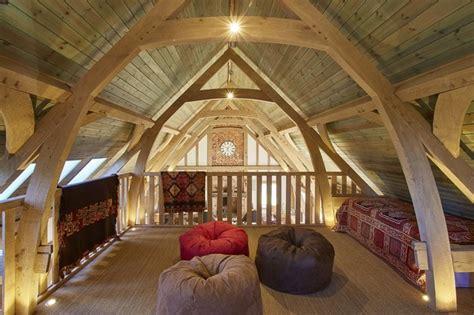 Oak Barn With Mezzanine Floor