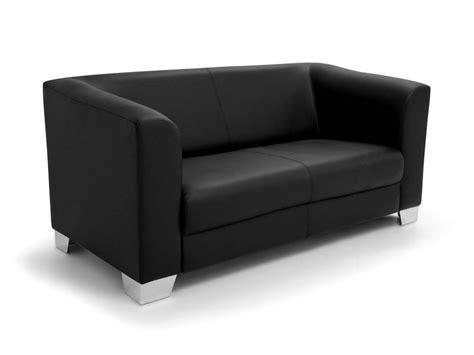 Chicago Sofa Couch 2-sitzer Schwarz Kunstleder