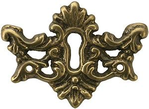 decorative solid brass keyhole cover  antique  hand