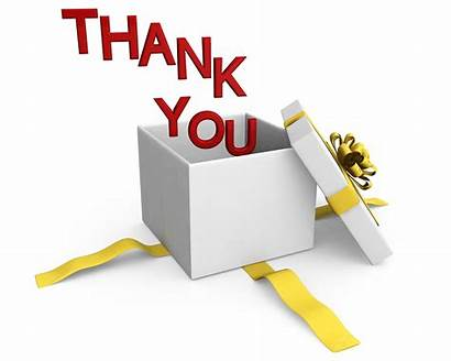 Thank Ppt Coming Box Gift Words Slide